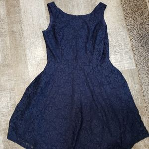 Specklers dark blue dress. Sleeveless